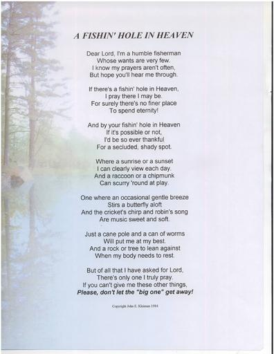 Soldiers prayer veterans prayer and more for Poems about fishing in heaven